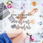 how to quickly fill your content calendar and get ahead on blog posts