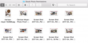stock photography permissions